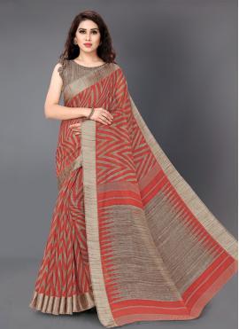 Cotton Multi Colour Printed Saree