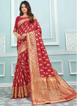 Cotton Trendy Saree in Maroon