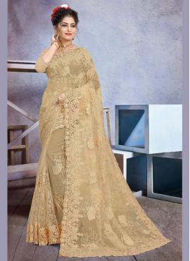 Cream Color Trendy Saree