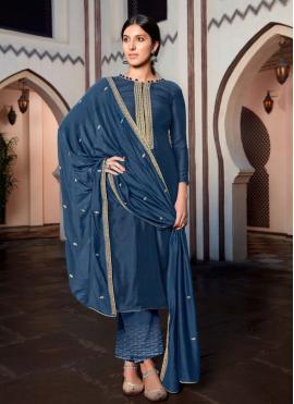 Customary Cotton Silk Festival Designer Palazzo Salwar Suit