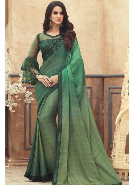 Dashing Embroidered Pure Chiffon Saree