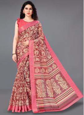Dashing Printed Multi Colour Cotton Classic Saree