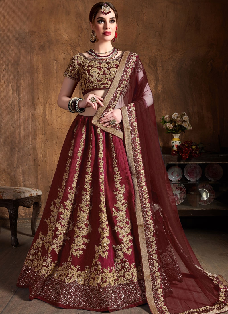 Delightful Raw Silk Lehenga Choli