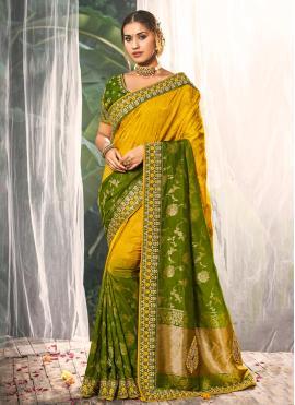 Delightful Resham Silk Multi Colour Traditional Saree