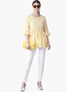 Delightful Yellow Muslin Kurta