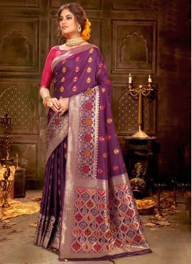 Delightsome Banarasi Silk Party Trendy Saree