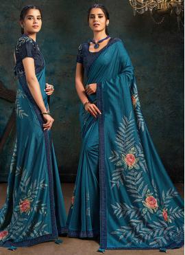 Demure Silk Digital Print Designer Traditional Saree
