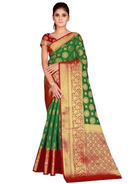 Demure Weaving Bollywood Saree