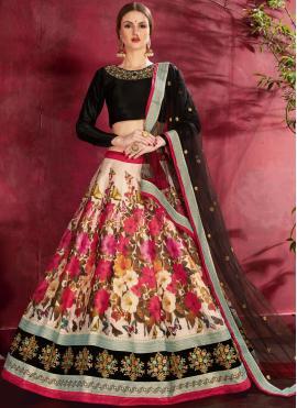 Deserving Embroidered Banglori Silk Designer Lehenga Choli