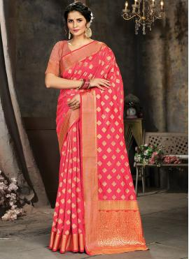 Deserving Jacquard Work Silk Trendy Saree