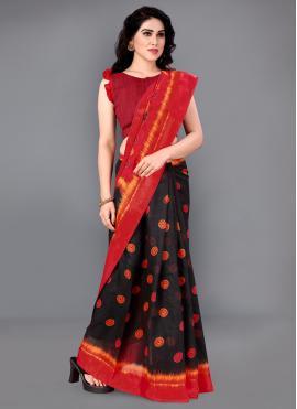 Designer Saree Printed Cotton in Multi Colour