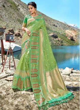 Designer Saree Weaving Silk in Green