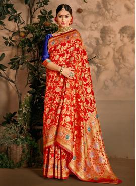 Distinctive Art Silk Weaving Designer Traditional Saree