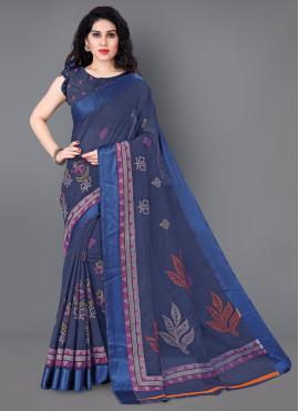 Distinctive Printed Cotton Casual Saree