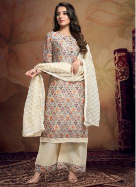 Distinctively Chanderi Designer Palazzo Salwar Suit
