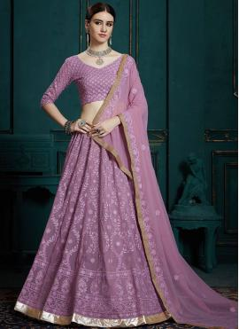 Distinctively Lavender Ceremonial Trendy Lehenga Choli