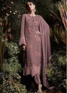 Distinctively Mauve  Festival Designer Pakistani Suit