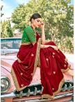 Distinguishable Fancy Fabric Patch Border Designer Traditional Saree - 1