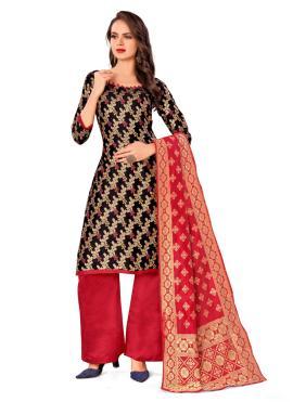 Divine Banarasi Silk Casual Designer Palazzo Salwar Kameez