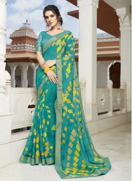 Elite Georgette Printed Multi Colour Bollywood Saree