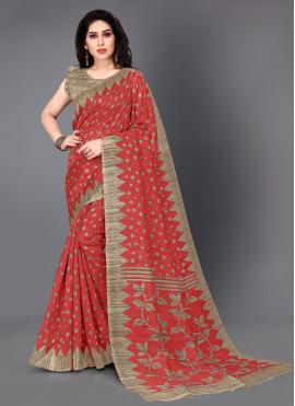 Elite Silk Printed Casual Saree