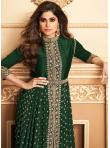 Embroidered Georgette Designer Salwar Suit in Green - 1