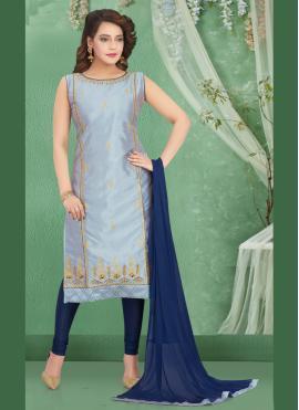 Enchanting Art Silk Designer Salwar Kameez