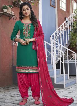 Enchanting Cotton Designer Patiala Suit