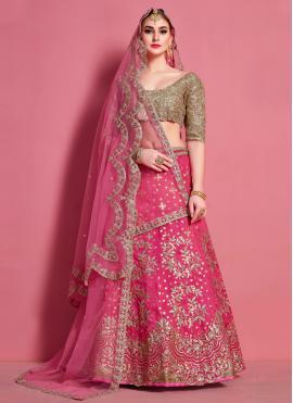 Enchanting Hot Pink A Line Lehenga Choli