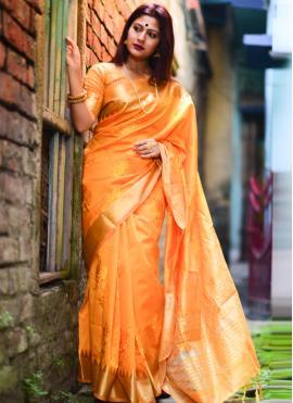 Energetic Designer Traditional Saree For Ceremonial