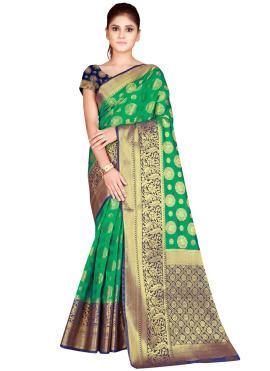 Energetic Green Bollywood Saree