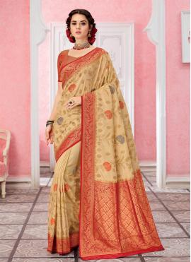 Engrossing Silk Weaving Contemporary Saree