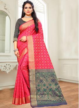 Enthralling Woven Silk Designer Saree