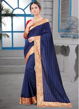 Enticing Patch Border Silk Contemporary Saree