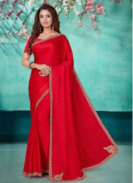 Enticing Satin Designer Traditional Saree