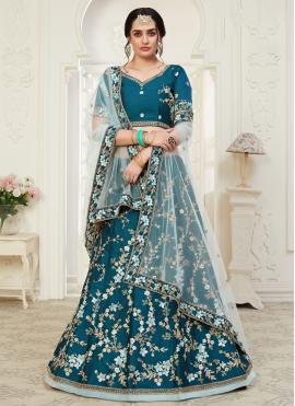 Epitome Embroidered Blue Designer Lehenga Choli