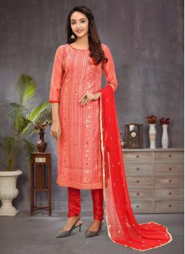 Epitome Fancy Pink Churidar Salwar Suit