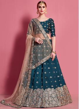 Especial Lace Art Silk A Line Lehenga Choli