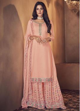Especial Pink Designer Palazzo Salwar Kameez