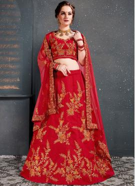 Especial Red Wedding Designer Lehenga Choli