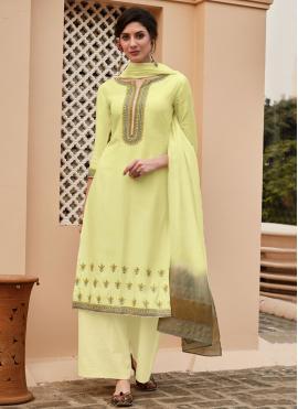 Especial Yellow Designer Palazzo Salwar Suit
