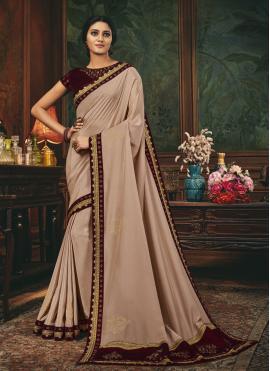 Ethnic Beige Designer Traditional Saree