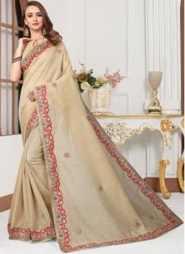 Ethnic Embroidered Trendy Saree