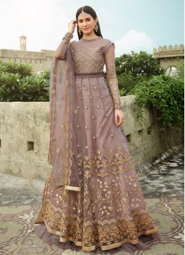 Ethnic Net Engagement Floor Length Anarkali Suit