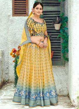 Exceeding Digital Print Silk Multi Colour Designer Lehenga Choli
