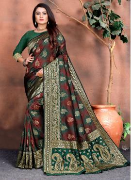 Exceeding Multi Colour Classic Saree