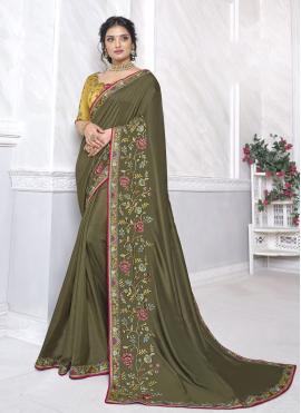 Excellent Green Classic Designer Saree