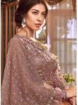 Excellent Net Embroidered Beige Trendy Anarkali Salwar Kameez - 1
