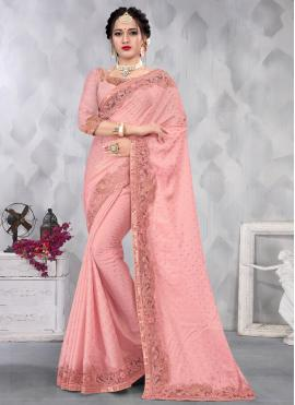 Excellent Satin Engagement Designer Saree