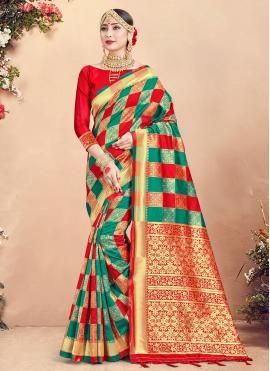 Exceptional Art Banarasi Silk Woven Traditional Saree